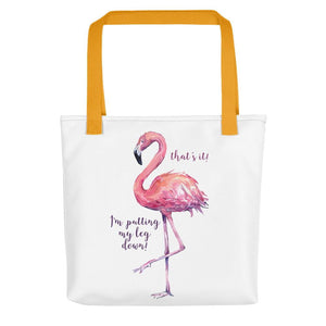 tote bag flamingo design