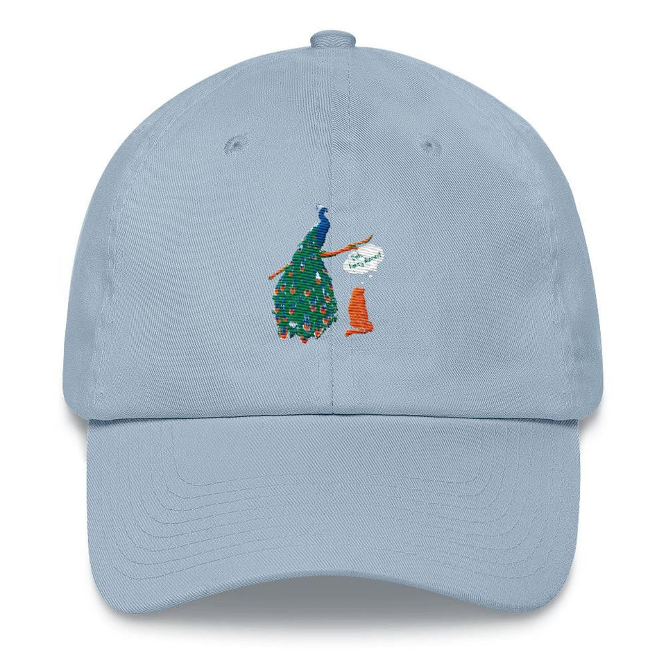 peacock dad hat