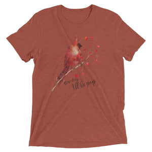 """One Day I'll Be Pop"" Red Cardinal Men's T-shirt"