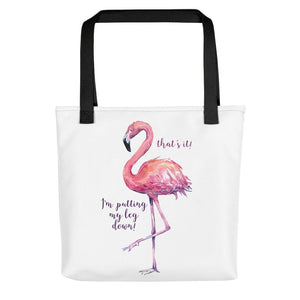flamingo tote bag women