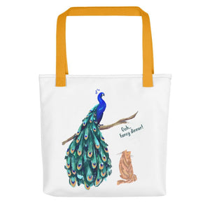 peacock women's tote bag