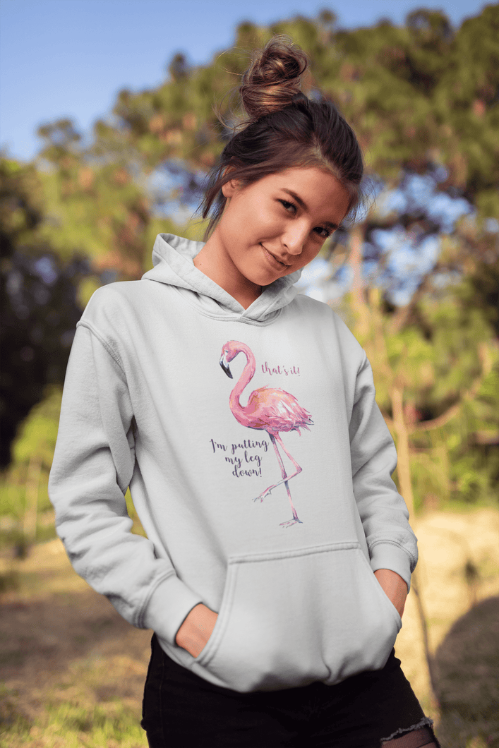 pink flamingo women's hoodies