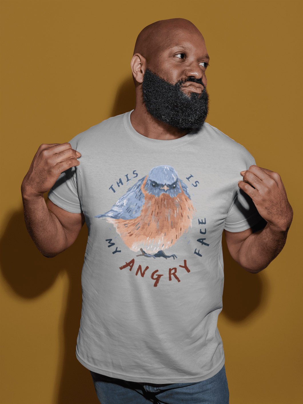man bird t-shirt design