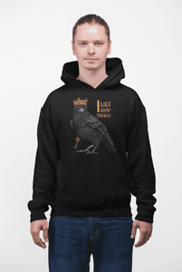 """I Like Shiny Things"" Crow Men's Hoodie"