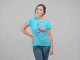 """Putting My Foot Down"" Flamingo Women's T-Shirt"