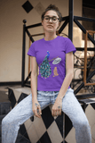 women's peacock t-shirt