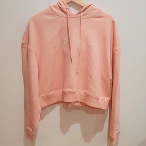 Womens Signature Cropped Hoodie