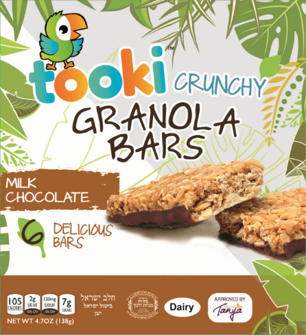 Tooki Milk Chocolate Crunchy Granola Bars