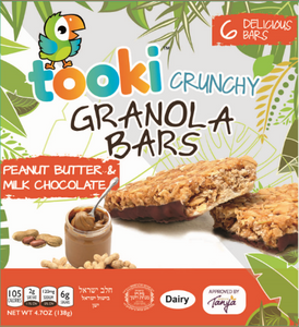 Tooki Peanut Butter and Milk Chocolate Crunchy Granola Bars