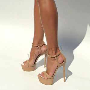 Strappy Stiletto High Heels Sandals