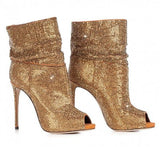 Crystal Ladies High Heel Boots