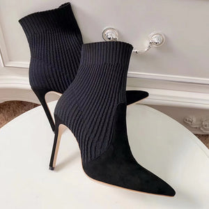 Women Knitted Sock Boots