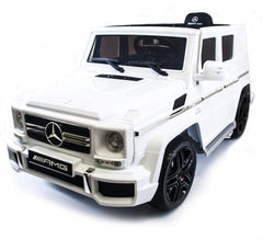 Licensed Mercedes G63 12v Electric Ride on Jeep with Remote - White - Openable Doors