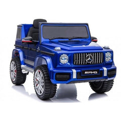 Licensed Mercedes Benz G63 12v Ride on Car Jeep with Remote - Metallic Blue