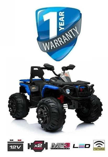 FX Cruiser All Terrain 4WD 12V Children's Electric Quad Bike - Blue