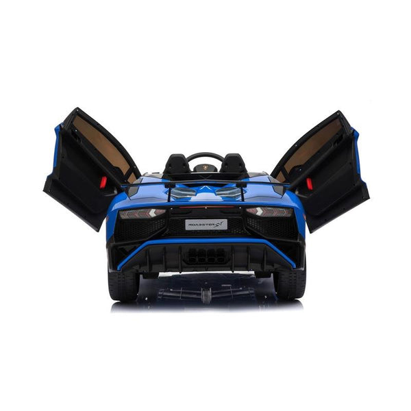 Lamborghini Aventador SV 12V Ride on Kids Electric Car With Remote Control - Blue