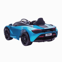 Licensed McLaren M720S Battery Operated Rechargeable 12V Ride on Car - Metallic Blue