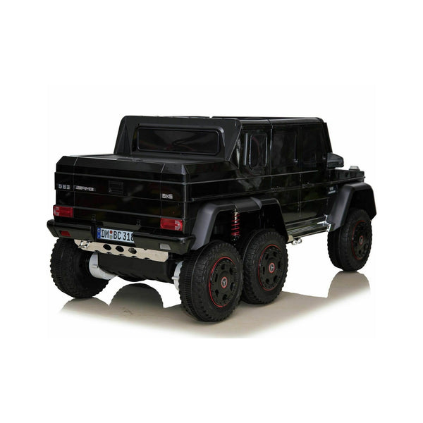 Licensed Mercedes G63 24V Ride on Car 6 Wheel Jeep with Remote - Black