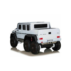Licensed Mercedes G63 24V 6 x Wheels Ride on Car Jeep with Remote - White