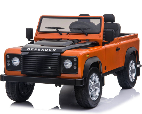Licensed Land Rover Defender 24V 4WD Ride On Pickup Style Jeep - Orange