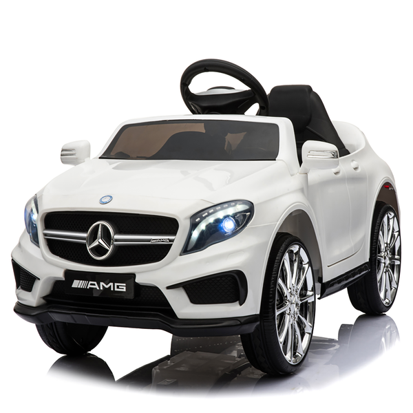 12V Kids Ride On Car Electric Licensed Mercedes Benz AMG GLA45 - White