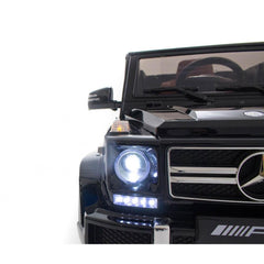 Mercedes G63 12v Electric Ride on Jeep with Remote - Black - Openable Doors
