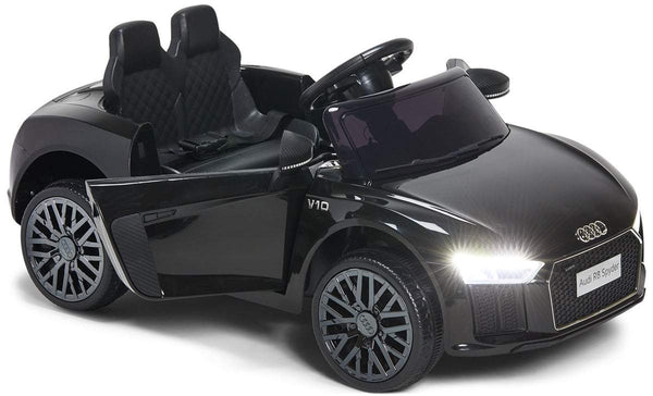 Audi R8 Spyder Compact 12v Licensed Ride on Car with Remote - Black