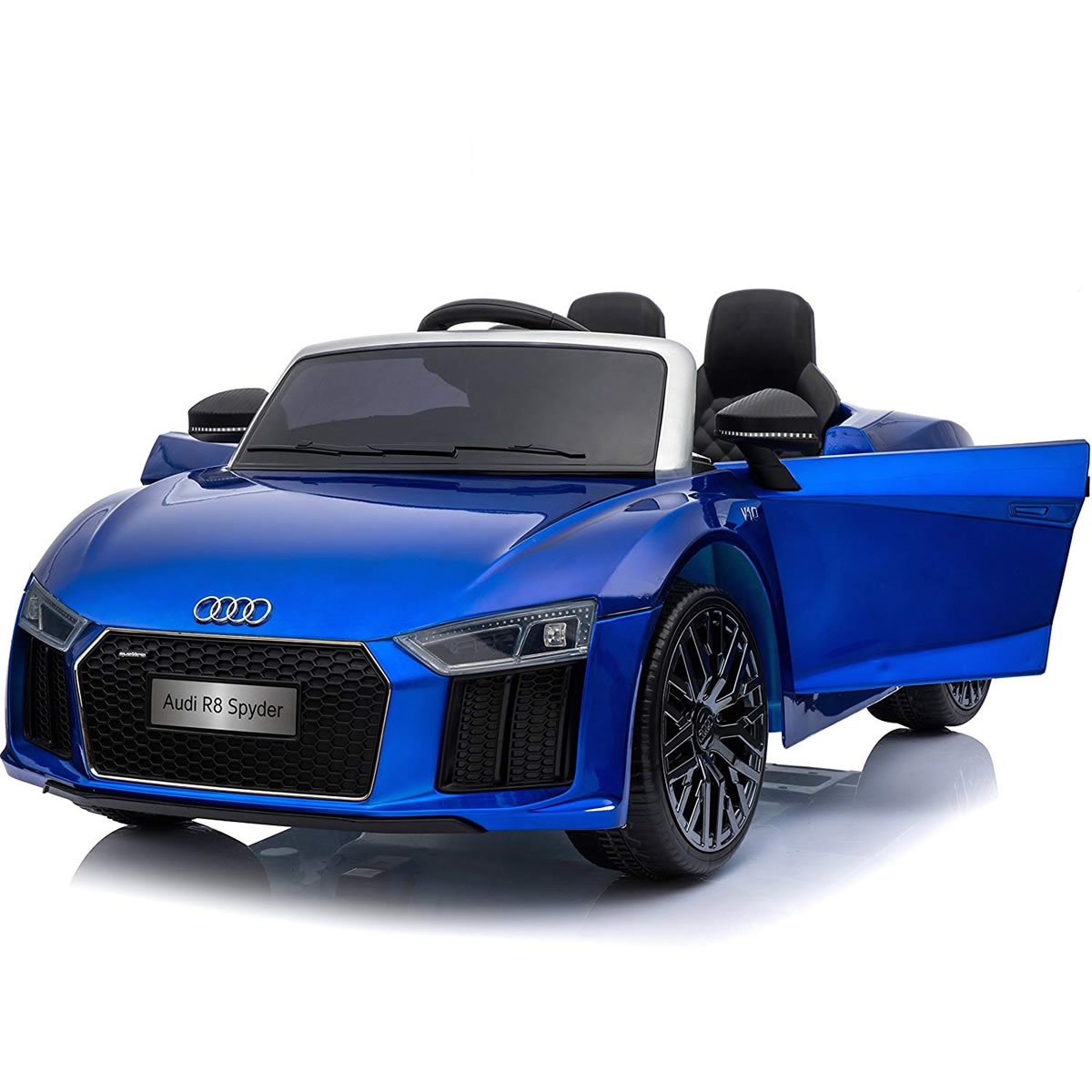 Audi R8 Spyder Compact 12v Licensed Ride on Car with Remote - Blue