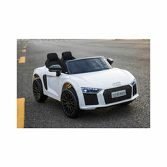 Audi R8 Spyder Compact 12v Licensed Ride on Kids Car with Remote - White