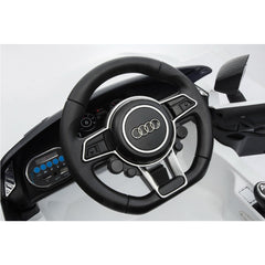 Audi R8 Spyder Compact 12v Licensed Ride on Kids Car with Remote Control - White