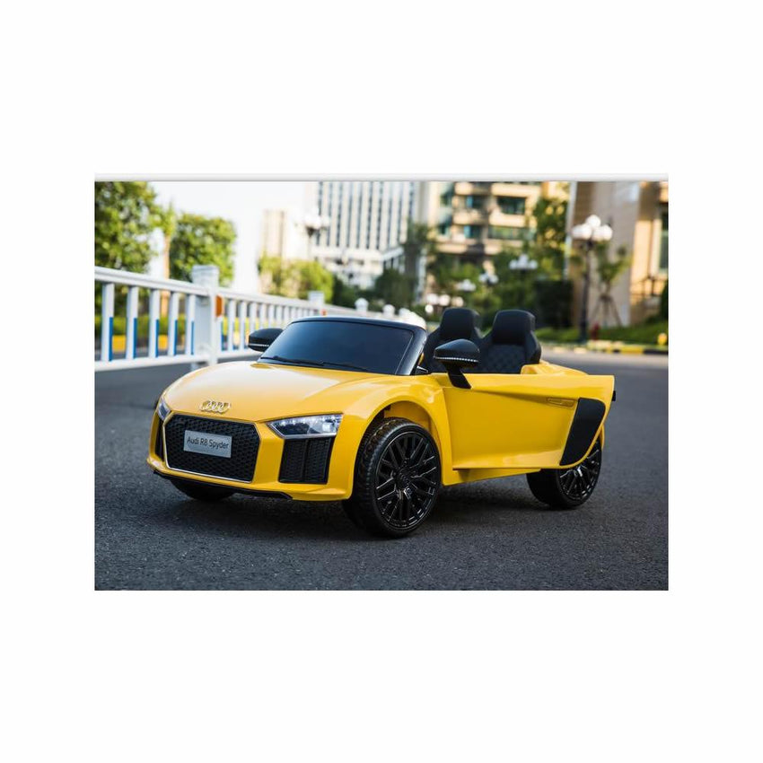 Licensed Audi R8 Spyder Compact 12v Ride on Car with Remote - Yellow