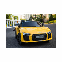 Audi R8 Spyder Compact 12v Licensed Ride on Kids Car with Remote - Yellow