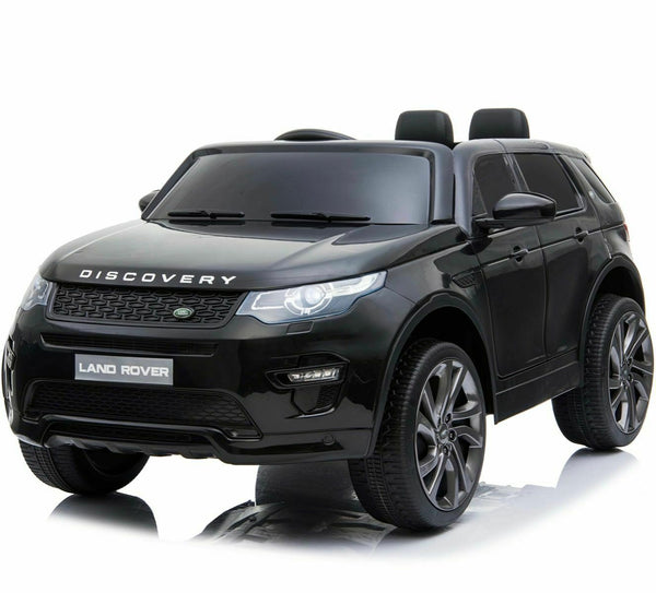 Licensed Land Rover Discovery 12v Kids Ride on Car - Metallic Black