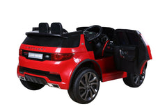 Licensed Land Rover Discovery 12v Kids Ride on Car - Metallic Red