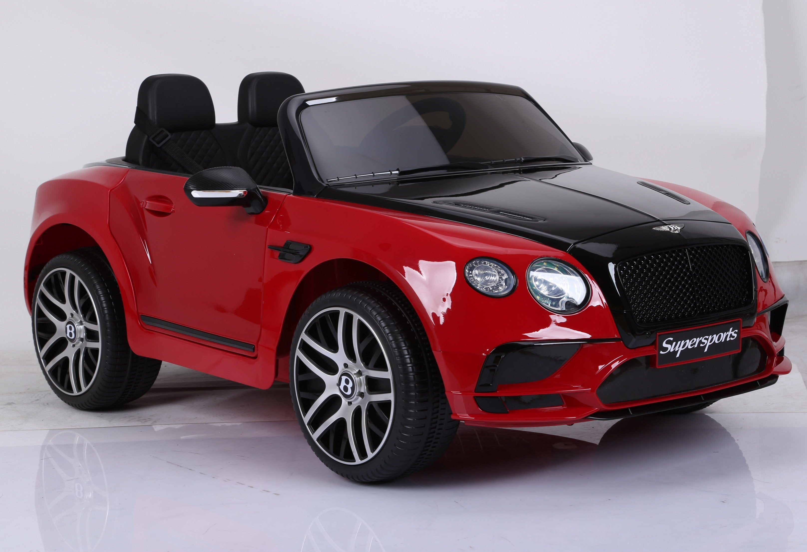 Licensed Bentley Continental Sports Two Seats 12v Kids Ride On Car with Remote - Metallic Red