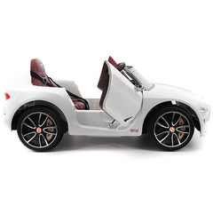 Licensed Bentley EXP12 Electric 12v Ride on Kids Electric Car with Remote - White