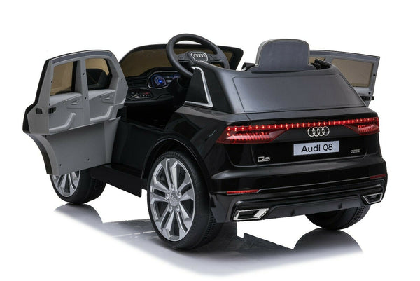 Licensed 12V Audi Q8 Children's Battery Operated 12v Ride on SUV - Black