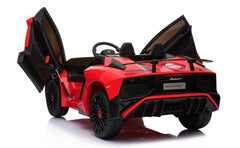 Licensed Lamborghini Aventador SV 12V Ride on Kids Car With Remote - Red