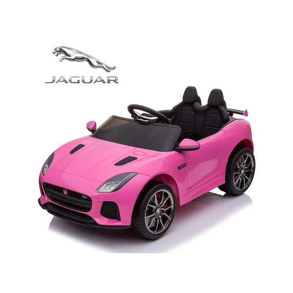 Jaguar F-Type SVR Compact 12v Ride on Kids Car with Remote - Pink