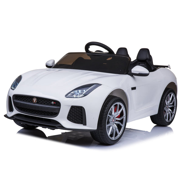 Jaguar F-Type SVR Compact 12v Ride on Kids Car with Remote - White