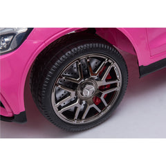 Licensed Mercedes Benz GLC63S 12V Electric Ride on Kids Car with Remote Control - Pink