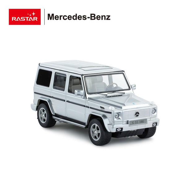RC 1:14 Mercedes G55 Kids Remote Control Toy Car - Silver