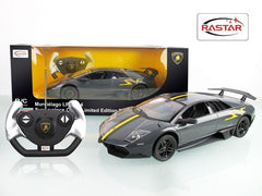 Rastar RC 1:14 Lamborghini Murcielago SV Kids Remote Control Toy Car - Grey
