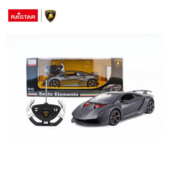 Rastar RC 1:14 Lamborghini Sesto Elemento Kids Remote Control Toy Car - Grey