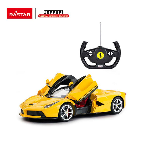 Rastar RC 1:14 Ferrari Laferrari Kids Remote Control Toy Car - Yellow