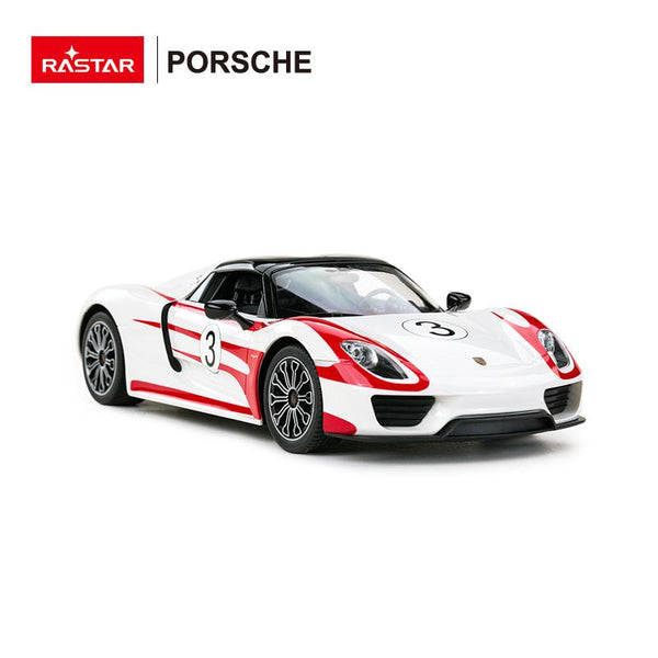 Rastar RC 1:14 Porsche 918 Spyder Weissach Kids Remote Control Toy Car - White