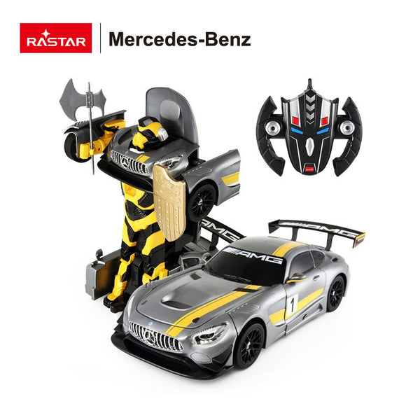 C 1:14 Mercedes Benz AMG GT3 Transformers Kids Remote Control Car - Grey