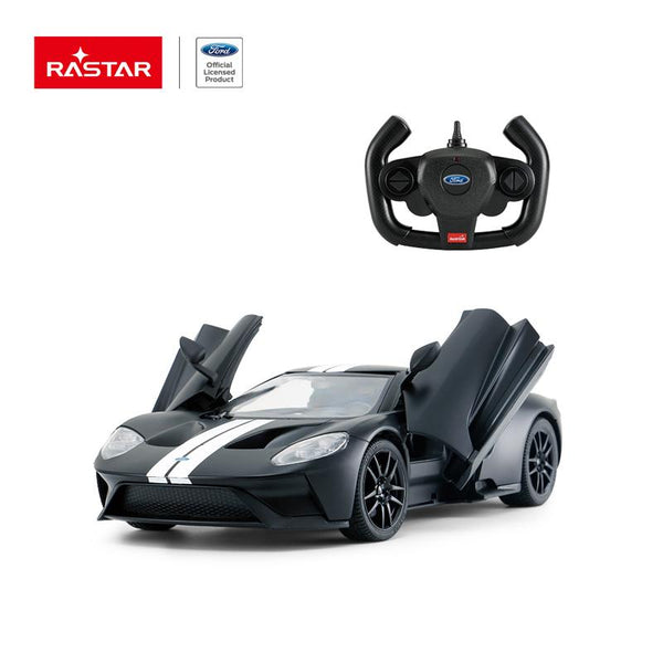 Rastar RC 1:14 Ford GT Kids Remote Control Toy Car - Matt Black