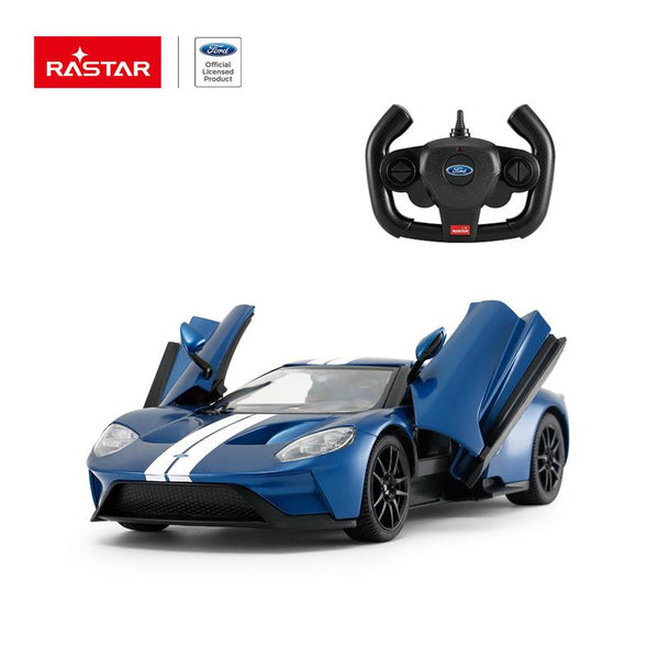 Rastar RC 1:14 Ford GT Kids Remote Control Toy Car - Blue