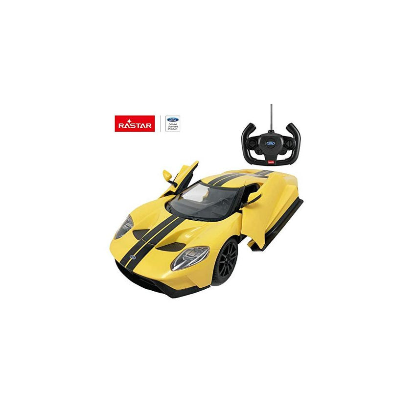 Rastar RC 1:14 Ford GT Kids Remote Control Toy Car - Yellow